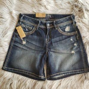 Suki Silver Jean Shorts